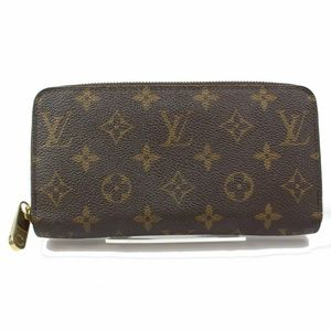 Auth Louis Vuitton Zippy Wallet Browns Monogram